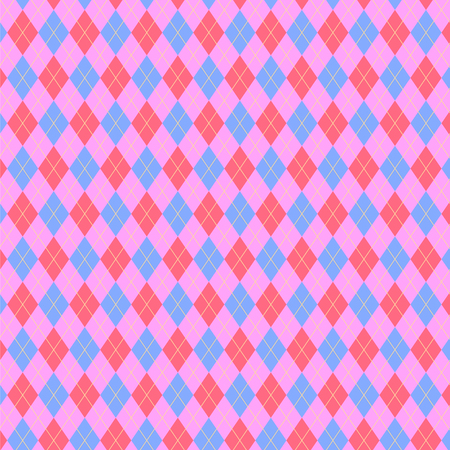 Argyle pattern in pink color scheme. Sweater texture, vector art illustration Illustration