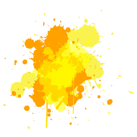 textspace: yellow tone water color design for brush, design element, background with Watercolor splash. Summer vector. Bright design