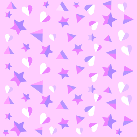 valentineday: Delicate purple colored heart and stars background. Used as background for display your products - Vector illustration