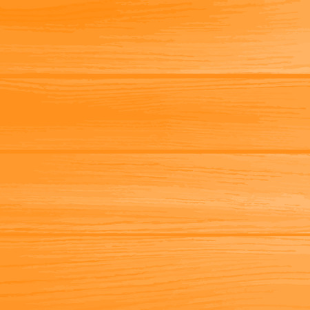 plywood: Natural wooden texture with horizontal planks. Orange color Vector background.