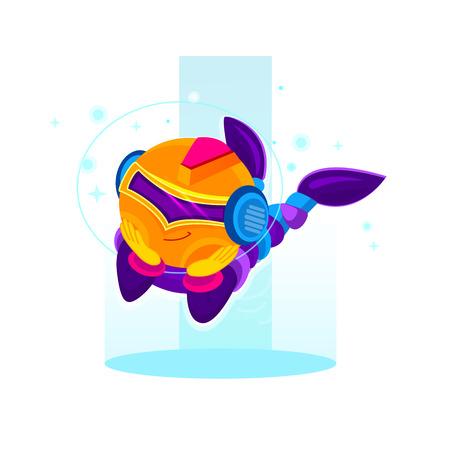 irc: Digital robotic machines. Cartoon robot character. concept of internet irc, interactive, robotic spam, technology, cybernetics, technical support ai