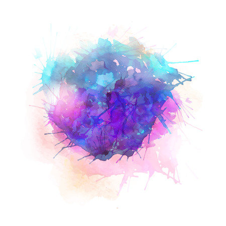 Vector pink and blue abstract illustration on white background. Ilustração
