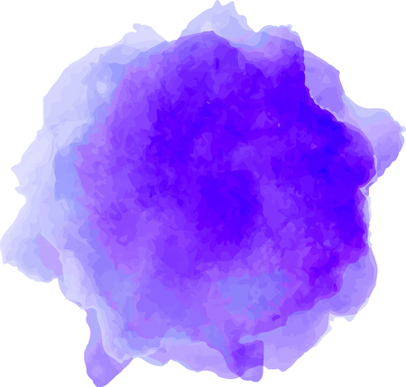 Vector watercolor splash texture isolated on white background. Watercolor ultramarine blue spot. Watercolor effects.