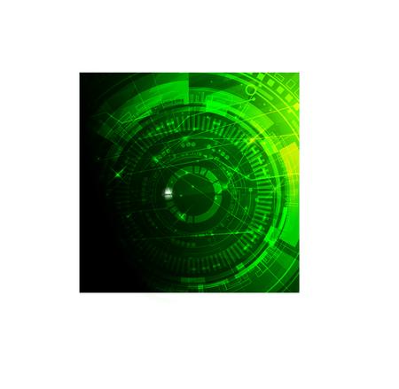 space program: Scientific futuristic scientific interface. Vector illustration for your design.