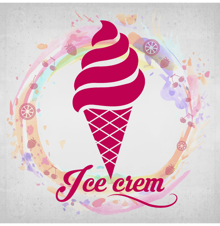 soft serve ice cream: Ice Cream - yummy and delicious Illustration