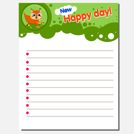 Writing practice printable worksheet for preschool kindergarten kids to improve basic writing skills. Text New Happy Day The idea for a children s diary