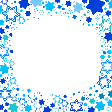 Vector illustration of star of David symbol of Israel . A frame from the stars of David.