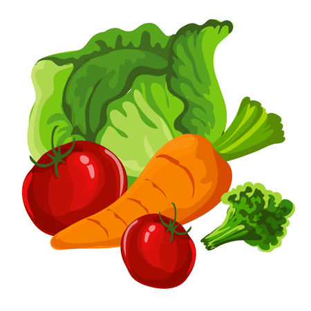 Vegetables are summer, delicious. Vector illustration, an element of your design Illustration