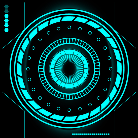 dashboard: Futuristic Sci Fi Modern User Interface Set. Abstract HUD. The interface of the future. Vector