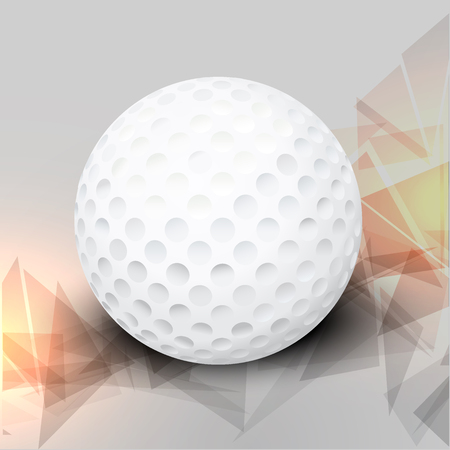 Vector golf ball in a realistic style. Element for the poster. Vector illustration Illustration