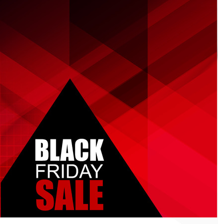 Black Friday Sale Poster with Smultiple abstract triangles. Stylish ready template. Vector illustration.