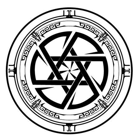 Symbol Davidstern, Schild von David, Magen David, Vektor-Illustration