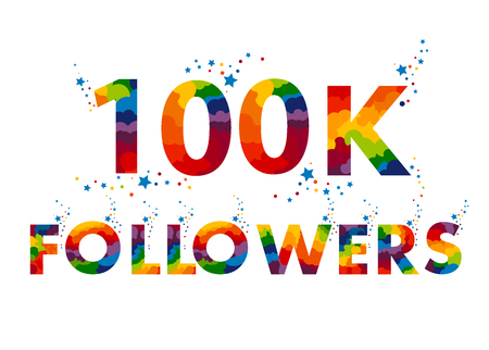 100k followers banner.