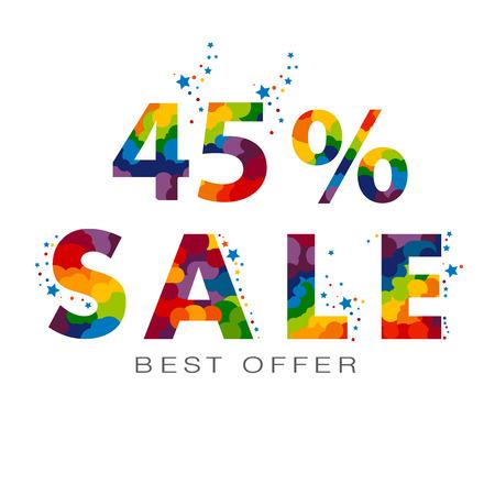 45% sale banner. 일러스트