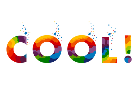 Stay cool sign. letters. Illustration. Ready for poster or artwork design. Stock Illustratie