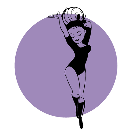 Female dancer vector illustration Illustration