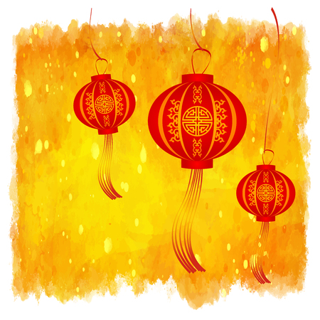 vector of abstract chinese new year background. Vector illustration