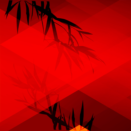 Traditional Chinese pattern pack. Red abstract background. vector illustration