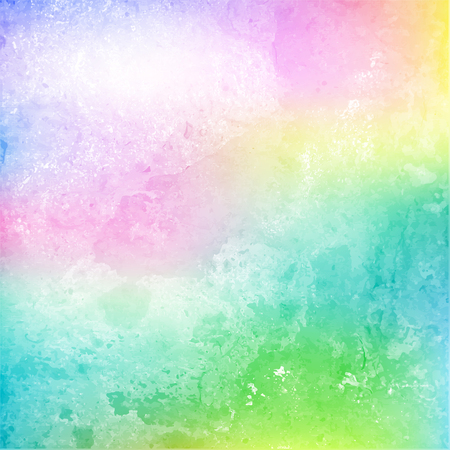 Colorful cloud and sky on grainy paper. Watercolor. Vector illustration