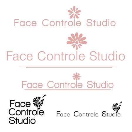 Design icons vector illustration of a flower chamomile . Face Control Studio Logo Chamomile  イラスト・ベクター素材