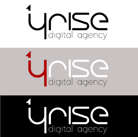 4 Rise Logo design for digital agency, vector template. Font Lines Logotype for your design.  イラスト・ベクター素材