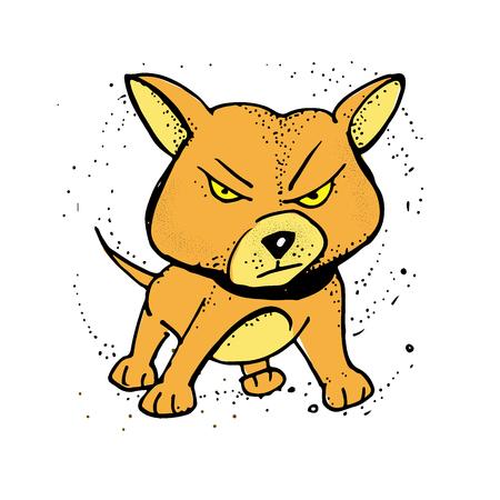 cute cartoon dog. angry Dog. vector illustration. Poster, t-shirt composition, handmade print