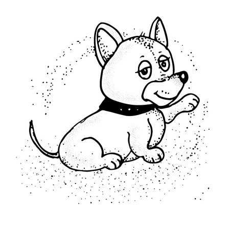 cartoon puppy. Vector illustration. Nice dog Emoji Cartoon
