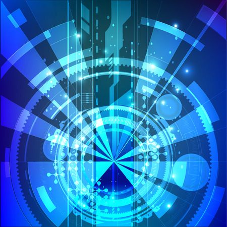 Futuristic design posters. Eps10 vector. Geometric background. Dynamic shapes composition. Abstract futuristic hyperspace universe on blue background.