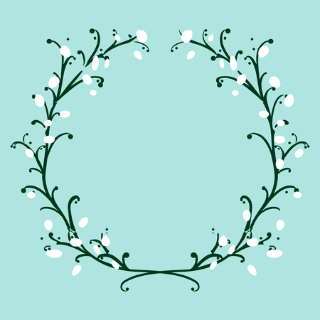 Sketched colorful wreath,groups, garland for romantic wedding, valentines day design. Handdrawn Vector 写真素材 - 124253574