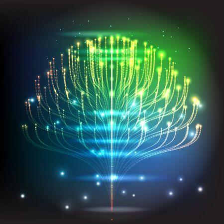 Symbolen van heilige geometrie, verbeelden fundamentele aspecten van ruimte en tijd. Flower of life symbool variaties. technologie vectorillustratie. Vector Illustratie