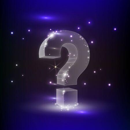 handwritten Question Mark Symbol. Vector Illustration. Ask, help and problem symbol, illustration or background
