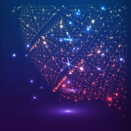 Vector space background. Futuristic vector illustration. HUD element. Technology concept. 3d stars. Background for your banner or poster designs. Illustration