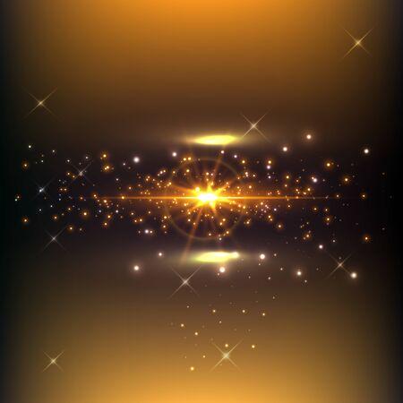 Abstrakte Feiertags-Lichtstrahlen-Design. Vektor-Illustration. magisches rauchiges Licht mit Partikeln. Hintergrund für Ihre Banner- oder Posterdesigns.