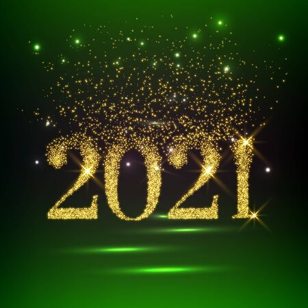 Happy new year 2021 vector background. Cover of card for 2021
