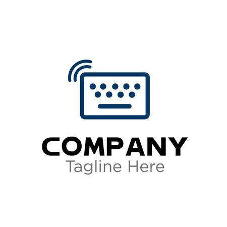 Logo - Internet Solutions. High-tech vector logo template. Abstract symbol