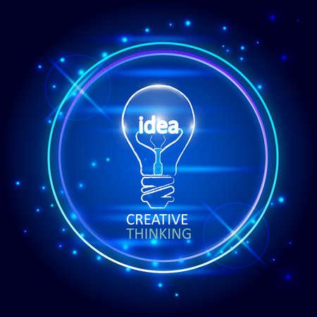 stylish conceptual digital light bulb idea design