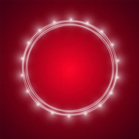Vector realistic style Light bulbs on red background. Business idea concept. lamp lights. Background for presentations.  イラスト・ベクター素材