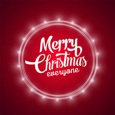 Playful Vector Lettering Series: Merry Christmas. Web design, poster, banner print decoration element. Vector realistic style