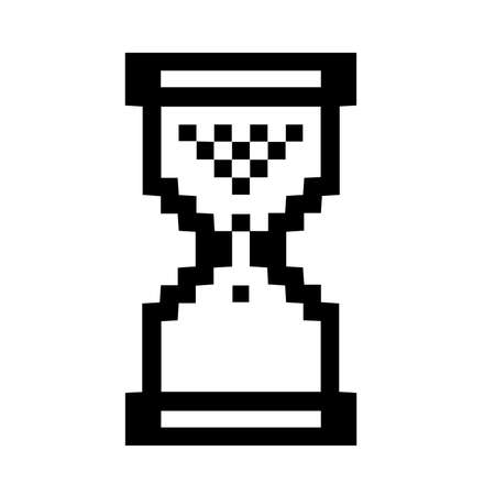 Sand Glass Pixel Clock Icon