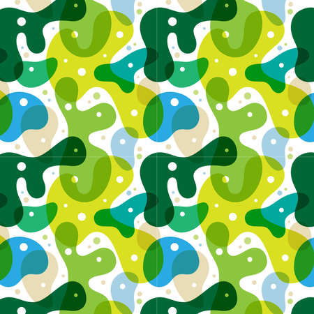 Seamless abstract vector pattern and background. Green vector