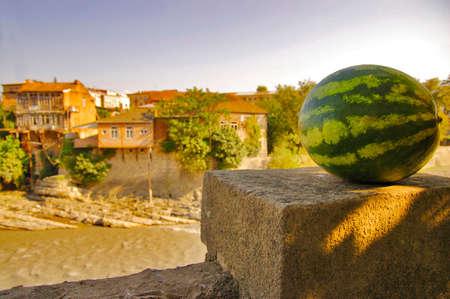 kutaisi: Watermelon on a background review at Kutaisi, Kutaisi Stock Photo