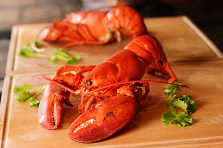 Fresh delicious lobster. Seafood. Maritime delicacy.