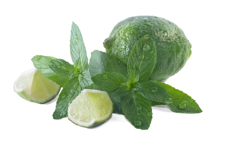 overwhite: fresh mint and lime overwhite Stock Photo