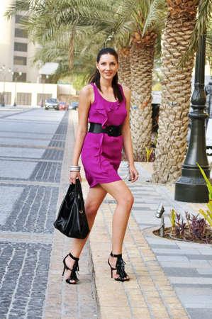 Beautifull model on the street photo