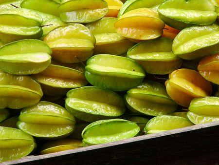 exotics: Star Fruit Stock Photo
