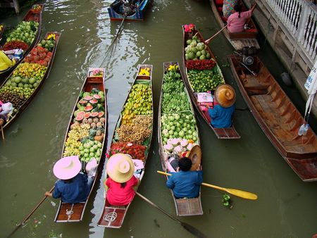 march� flottant: March� flottant � Bangkok 3 Banque d'images