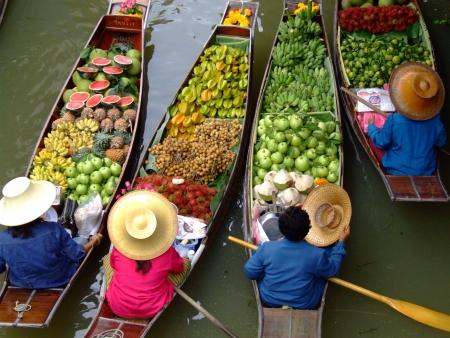 Floating Market en Bangkok 4  Foto de archivo