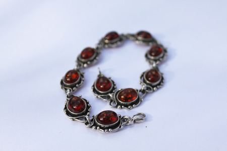 regalia: amber bracelet Stock Photo
