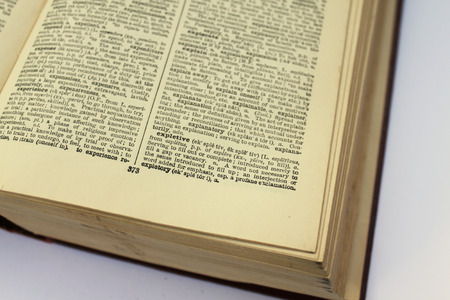 western script: old dictionary