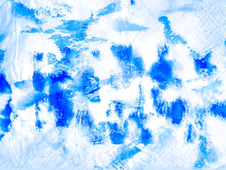 Dirty Artistic Pattern. turquoise Color Ink Illustration. Aqua On White Background. Tie Dye Watercolor Art. Worn Tissue Texture. Blue Spotted Distressed Paper. Watercolor Texture.